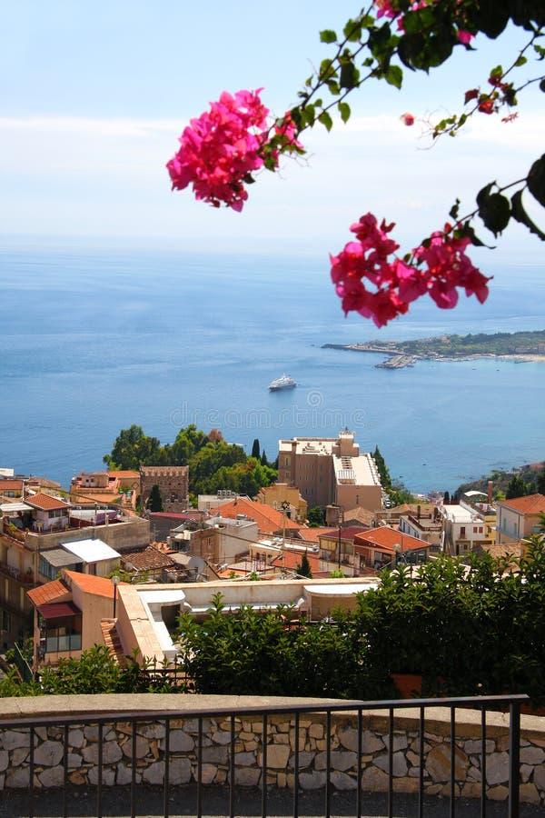 Taormina, Sizilien, Italien stockbild