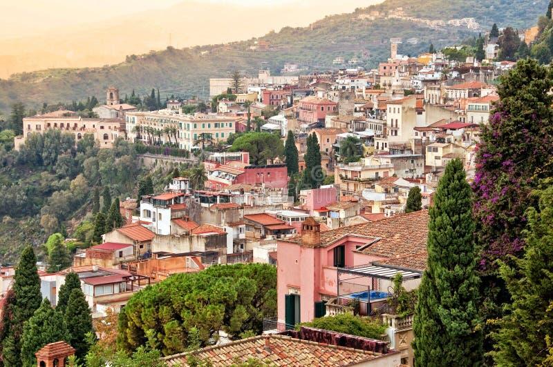 Taormina in Sizilien, Italien stockfoto