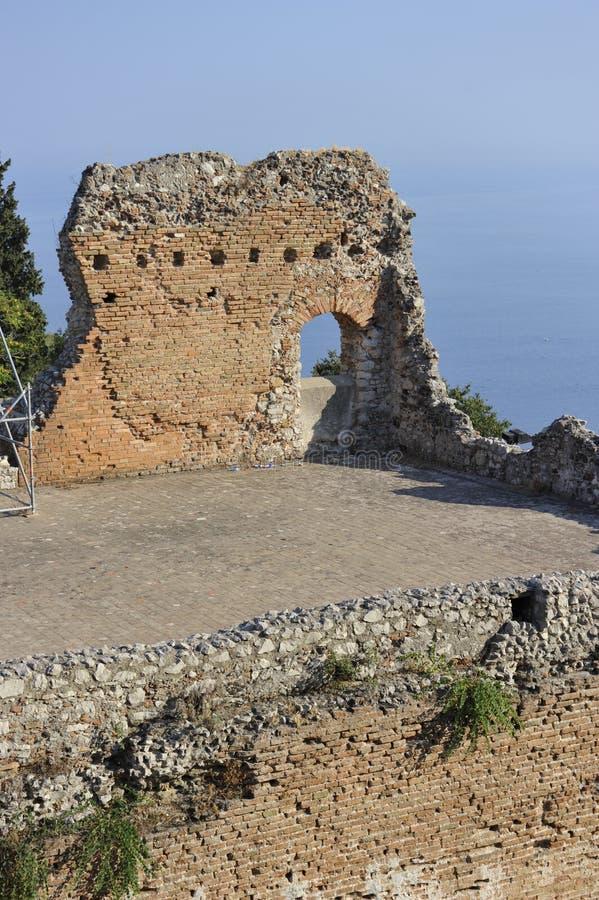 Taormina, Teatro Greco royalty-vrije stock fotografie