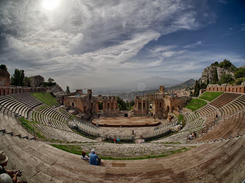 Taormina theatre fotografia royalty free