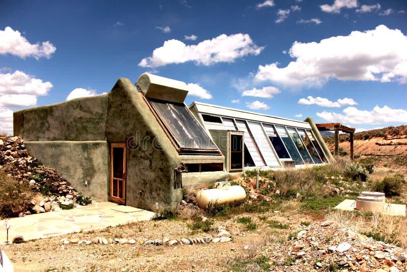 Taos Earthship foto de stock