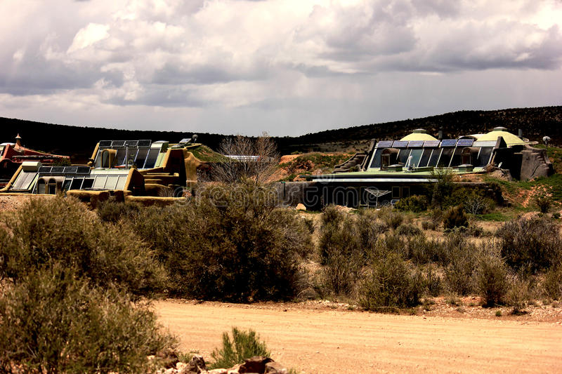 Taos Earthship royalty free stock photography