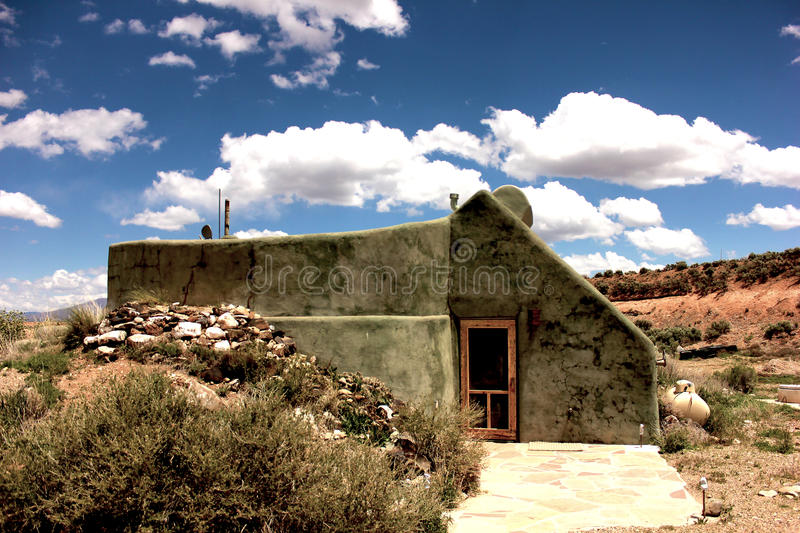 Taos Earthship royalty free stock image