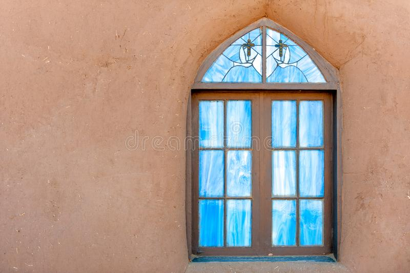 Taos mission church stock photo