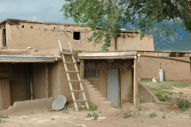 Taos Pueblo. Native indian pueblo in new mexico stock photos