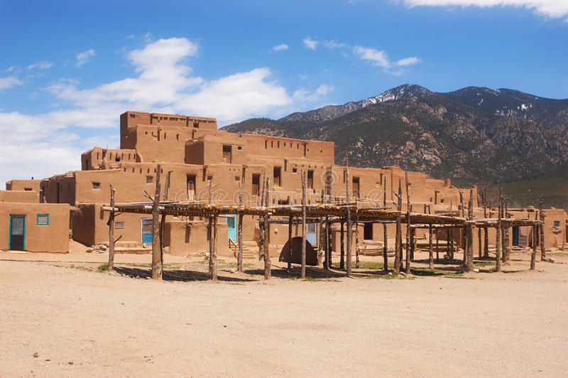 Taos Pueblo, New Mexico. UNESCO World Heritage Site Taos Pueblo outside of Taos, New Mexico, continuously inhabited for over 1000 years royalty free stock photos
