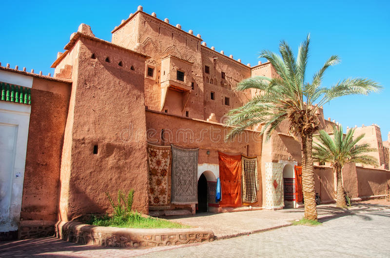Taourirt Kasbah in Ouarzazate. Taourirt Kasbah in berber town Ouarzazate, Morocco. It is one of the most impressive kasbahs in the country, famous and very stock photos
