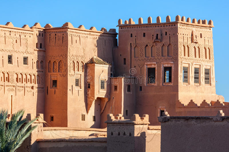 Taourirt Kasbah, Ouarzazate. The Taourirt Kasbah in Ouarzazate in Morocco is one of the most impressive monuments in Morocco stock image