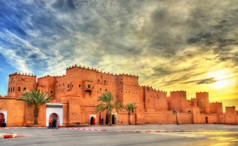 Taourirt Kasbah in Ouarzazate, Morocco. It is one of the national symbols of Morocco stock image