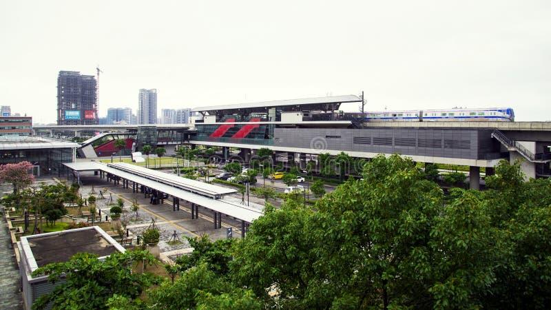 Taoyuan lotniska międzynarodowego dostępu MRT fotografia royalty free