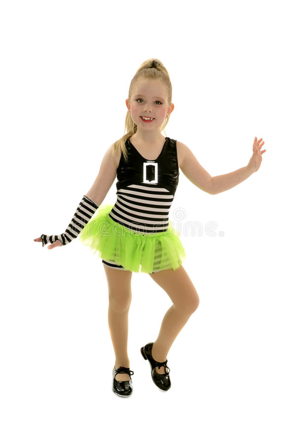 Free Tap Dancer Child In Jailhouse Costume Royalty Free Stock Photo - 35108825