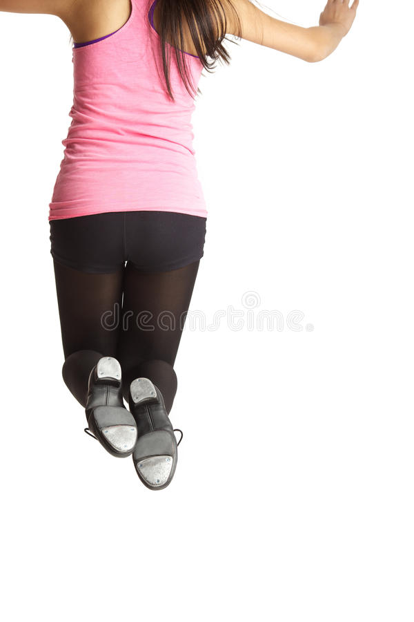 Free Tap Dancer Jumping Royalty Free Stock Images - 39682079