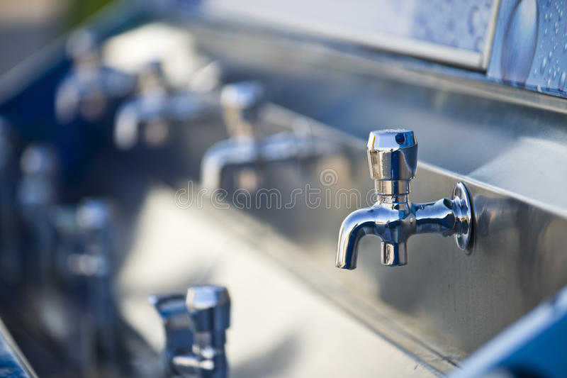 Tap dripping stock photography