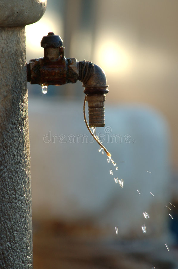 Tap dripping stock images