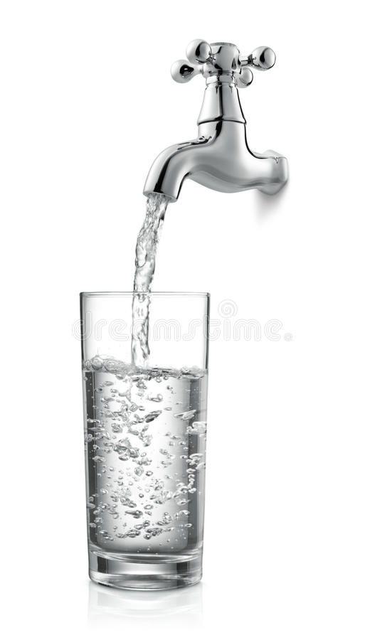 Tap and water stock photography