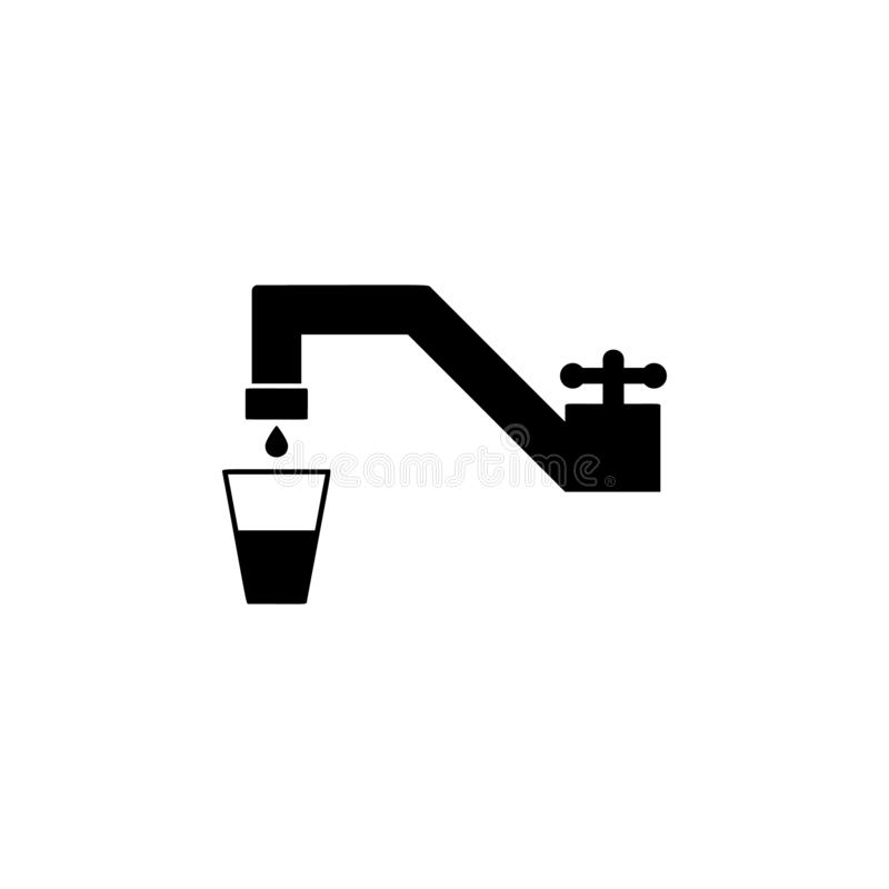Tap, water, glass icon. Simple glyph  of universal set icons for UI and UX, website or mobile application vector illustration
