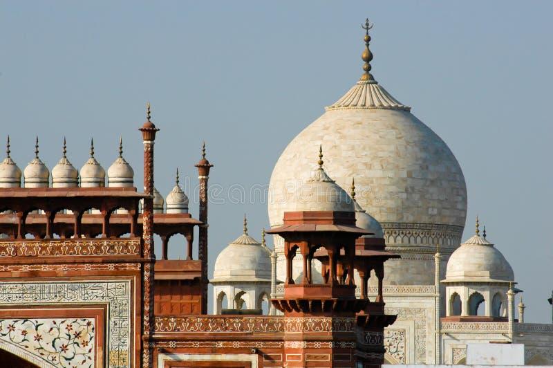 Tapa de la azotea de Taj Mahal imagen de archivo libre de regalías