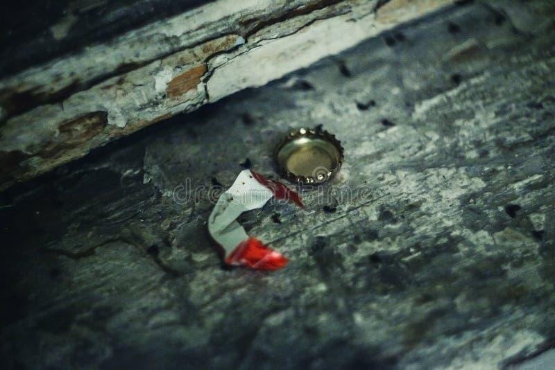Tapa de la soda en el asfalto fotografía de archivo libre de regalías