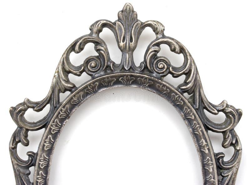 Tapa de plata del marco imagenes de archivo