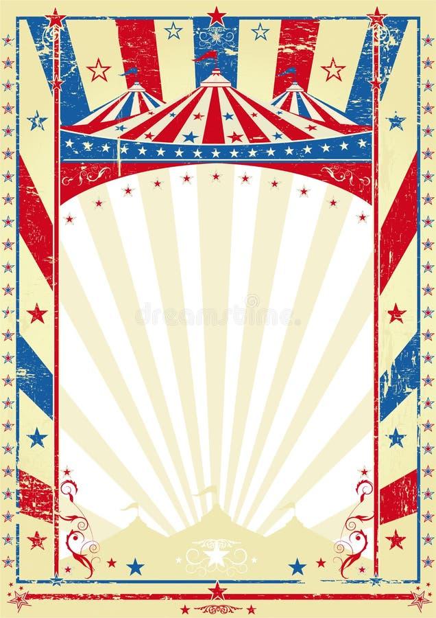 Tapa grande del cartel tricolor viejo stock de ilustración