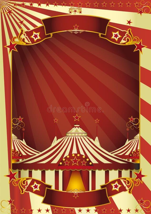 Tapa grande del circo agradable stock de ilustración