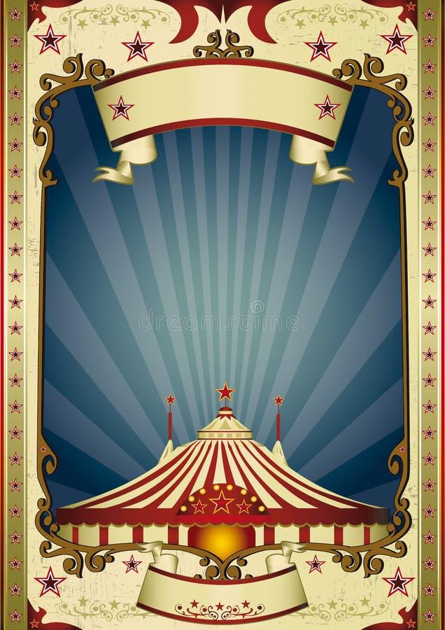 Tapa grande del circo retro de la noche libre illustration