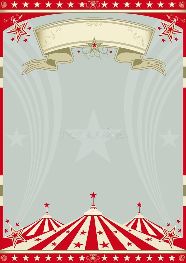 Tapa grande retra del circo. libre illustration