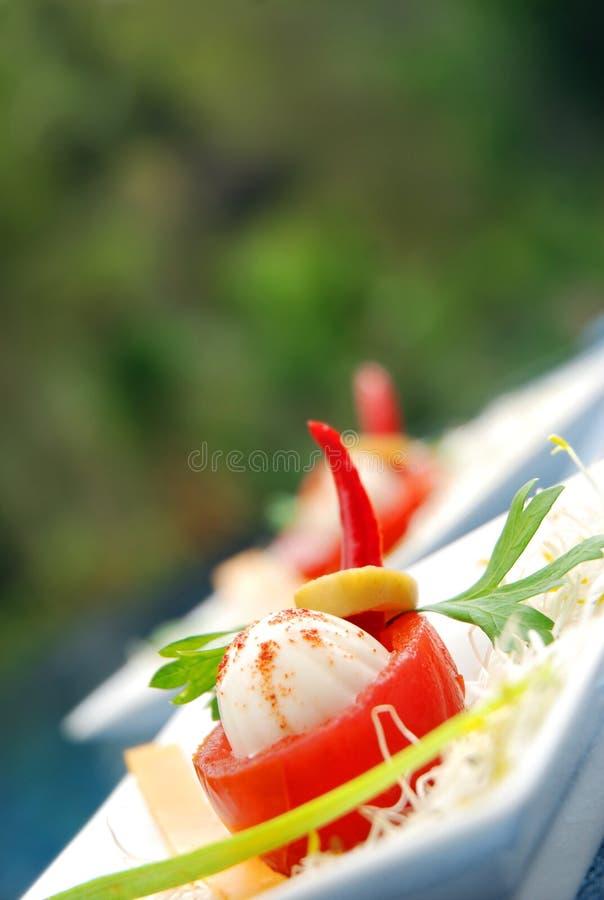 Tapa italien de tomate de mozzarella photo libre de droits