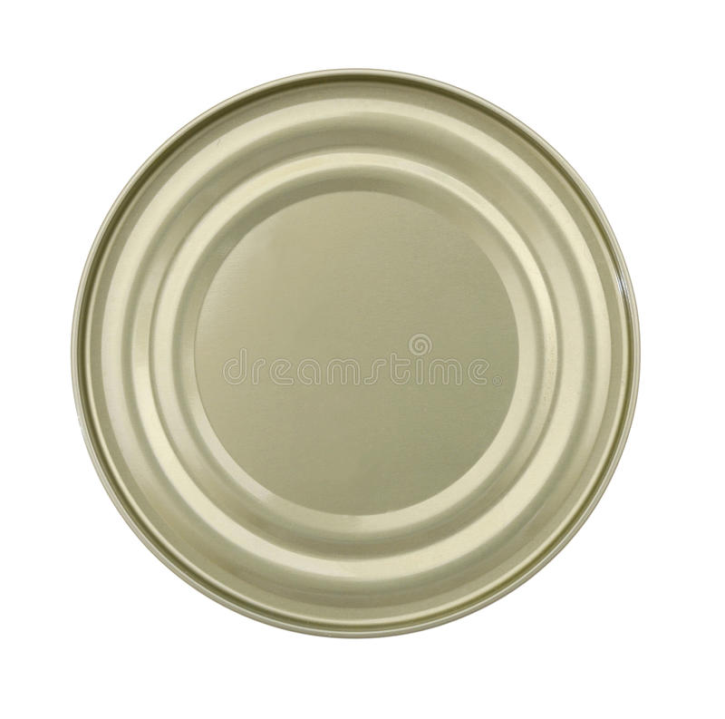 Tapa o base de la comida Tin Can fotografía de archivo libre de regalías