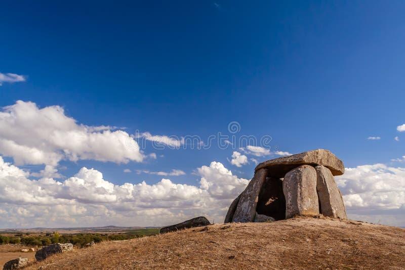 Tapadao dolmen w Crato drugi duży w Portugalia zdjęcia stock