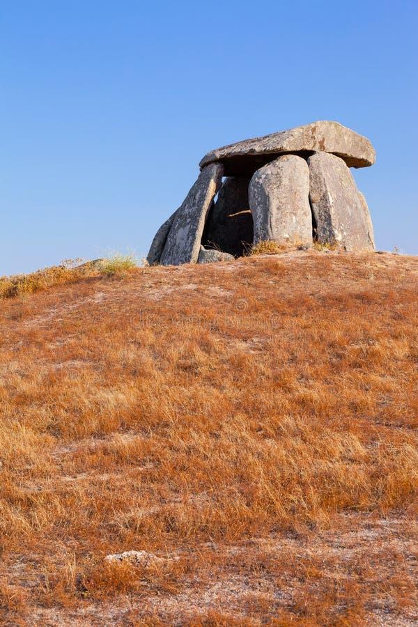 Tapadao dolmen w Crato drugi duży w Portugalia obrazy stock