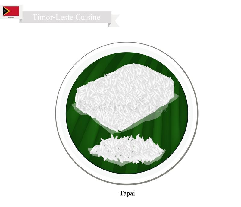 Tapai cukierki Fermentujący Rice lub Tradycyjny timor royalty ilustracja