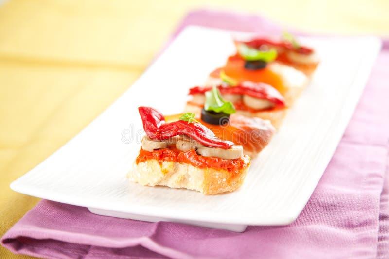 Tapas, alimento de España fotografía de archivo libre de regalías