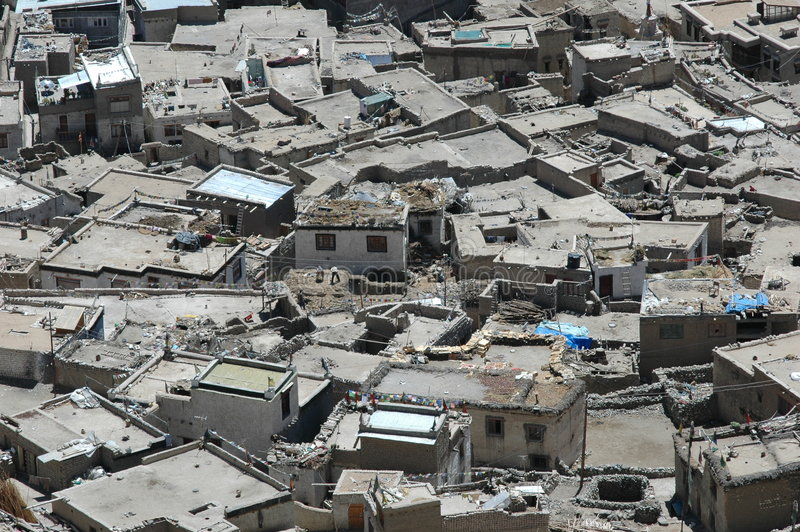 Tapas de la azotea en Leh imagen de archivo libre de regalías