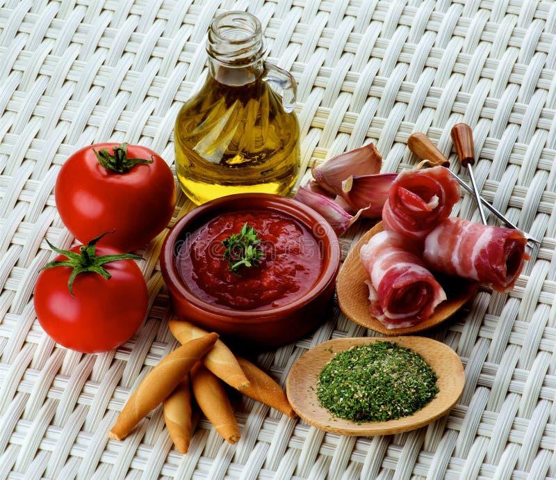 Tapas e ingredientes fotos de stock