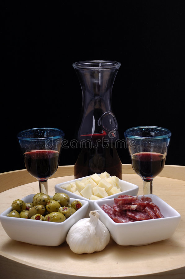 Download Tapas and red wine stock image. Image of cuisine, glass - 2487823