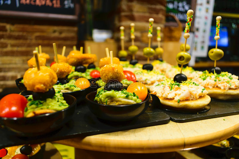 Tapas Selection royalty free stock photography