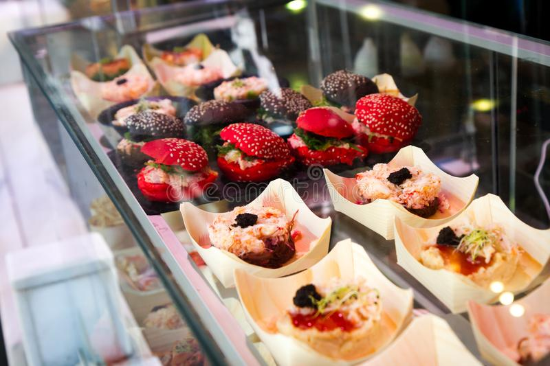 Tapas in Spain stock photography