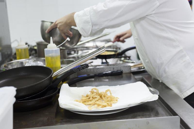 Tapas wypracowanie na kuchennym tle obraz stock