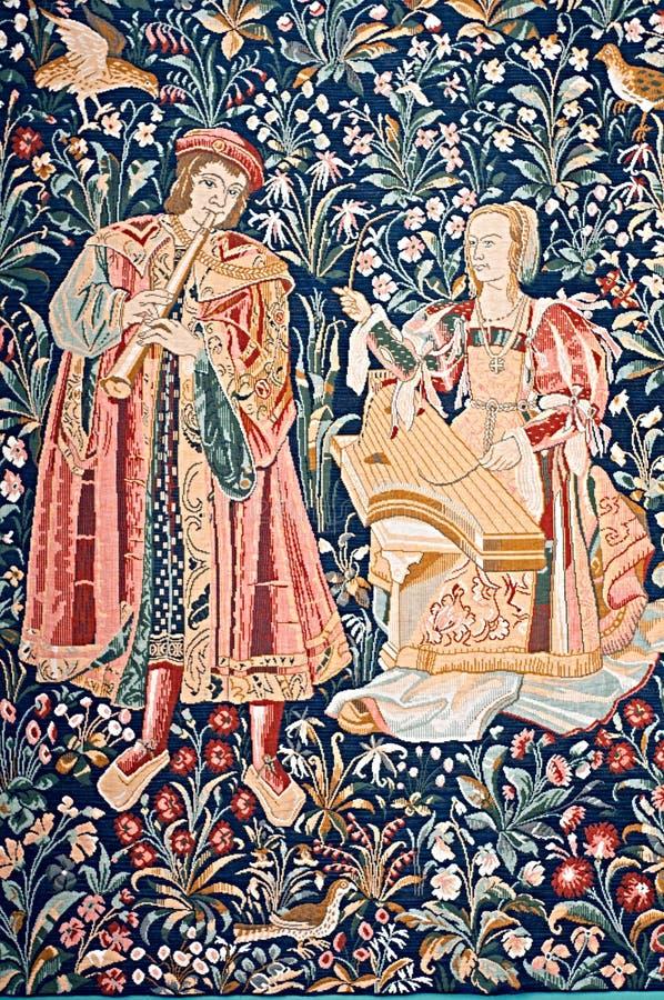 Tapeçaria medieval fotografia de stock