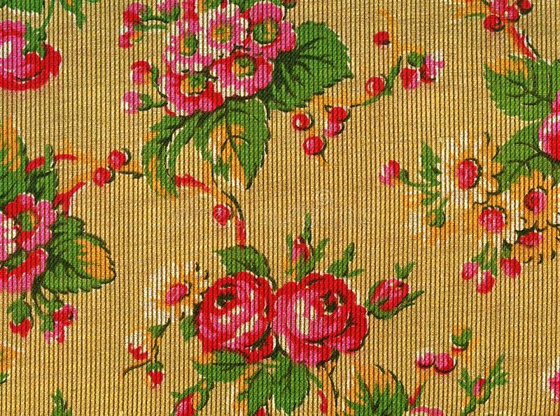 Tapeçaria retro com rosas fotografia de stock