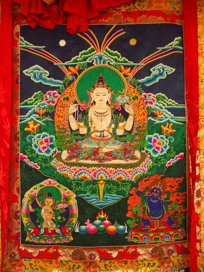 Tapeçaria tecida mão de Bhutan foto de stock royalty free