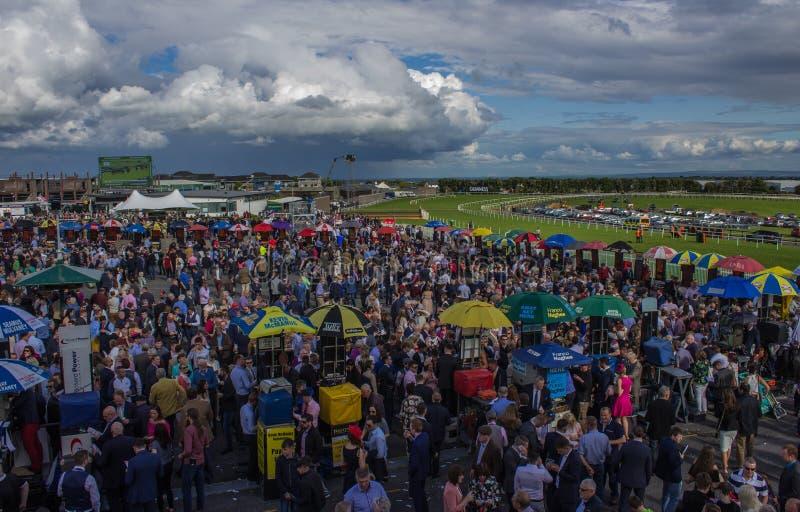 Tape-à-l'oeil et scintillement aux courses de Galway, Irlande photographie stock libre de droits