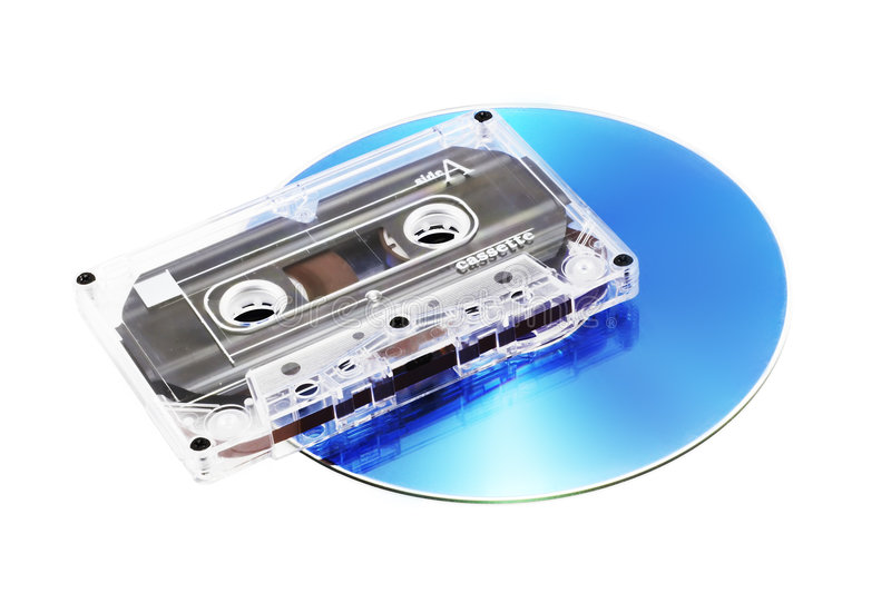 Tape Cassette and CD royalty free stock photos