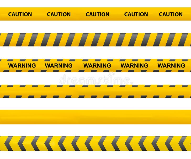 Tape caution stock illustration
