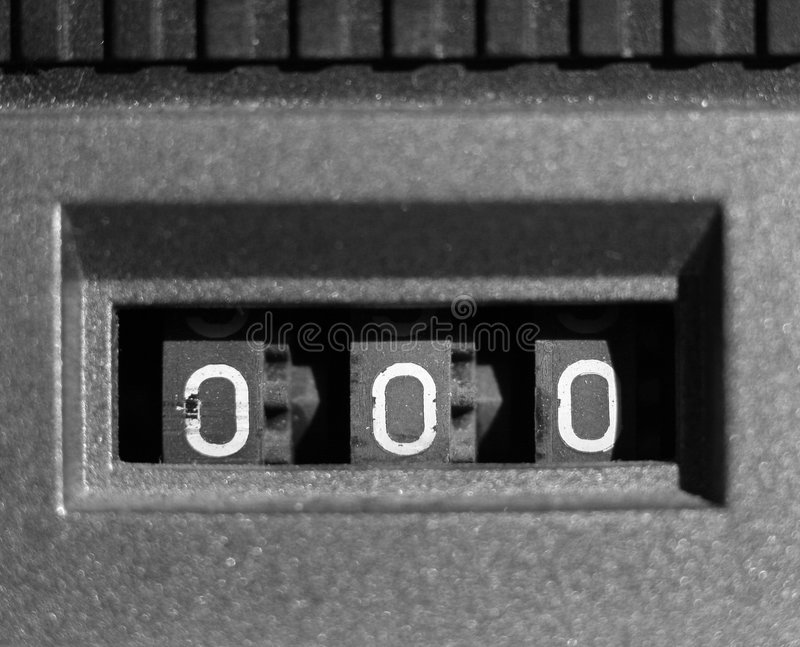Tape counter royalty free stock image