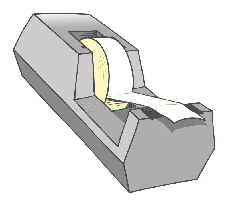 Download Tape dispenser stock vector. Illustration of scotch, office - 25175729