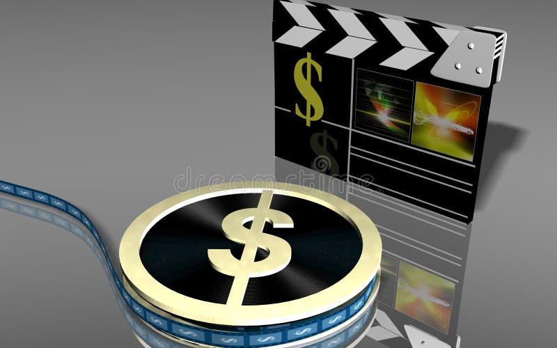 Tape du dollar illustration libre de droits