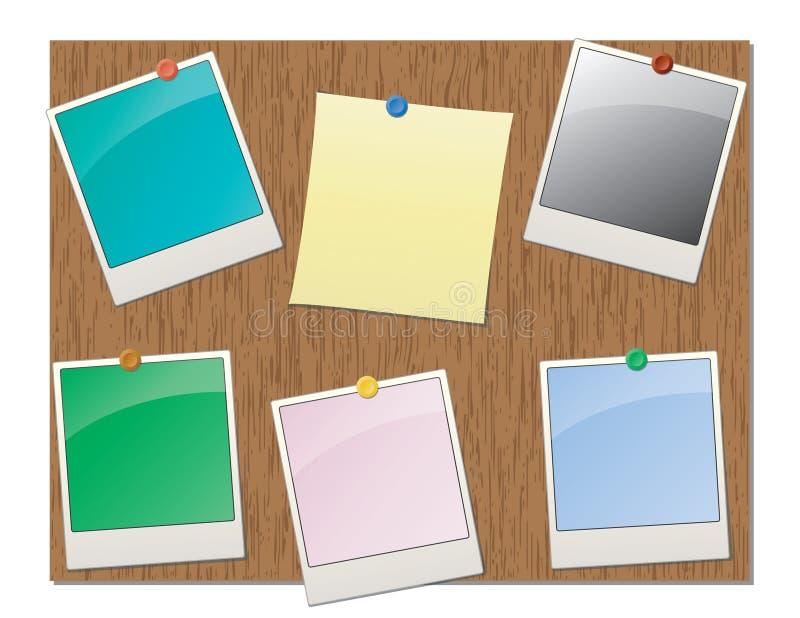 Tape la tarjeta del contacto con corcho ilustración del vector