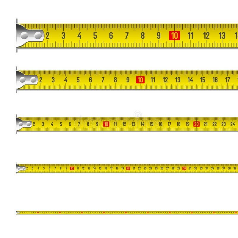 Tape measure royalty free illustration